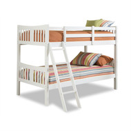 Twin over Twin size Solid Wood Bunk Bed Frame in White Finish SCZBW581985281
