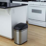 6.3 Gallon Kitchen Infrared Touchless Automatic Motion Sensor Lid Open Trash Can K63GKC88311