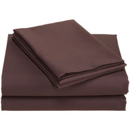 Full size 100% Super Soft Microfiber Sheet Set in Chocolate Brown DHFMSC23