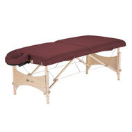 Burgundy Portable Massage Table with Adjustable Headrest and Carry Case BMTETL9872151