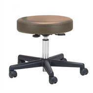 Adjustable Height Pneumatic Rolling Stool with Brown Padded Seat by Earthlite Massage BEALMTRS198421