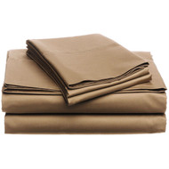CA King 400-TC Egyptian Cotton Sheet Set in Chestnut Brown HCSCK64818