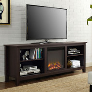 Espresso 70-inch Electric Fireplace TV Stand Space Heater RBLFTVS47589611