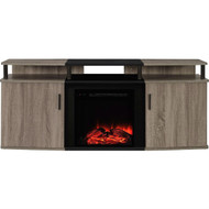 Sonoma Oak / Black Electric Fireplace TV Stand - Accommodates up to 70-inch TV SOBWFPTVS74598631