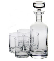 Crystal Wellington Double Old Fashioned Decanter Gift Set W6826