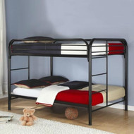 Heavy Duty Black Metal Full over Full Bunk Bed with Ladder- HDBKICHG1981