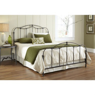 Queen size Metal Bed Frame with Headboard and Footboard - Boxspring Required- QBFLB15988514852