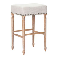 Anaheim Barstool Beige (Set Of 2) -98614-1