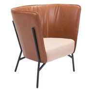 Assange Occasional Chair Coffee & Beige -98087-1