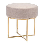 Bon Stool Beige & Stainless -100637-1