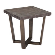 Brooklyn Side Table Gray Oak & A.Brass -100663-1