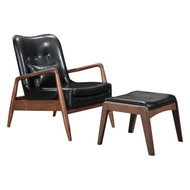 Bully Lounge Chair & Ottoman Black -100534-1