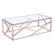 Cage Coffee Table Rose Gold -100180-1