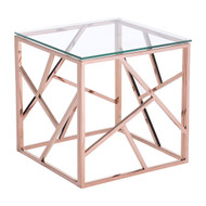Cage Side Table Rose Gold -100182-1