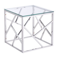 Cage Side Table Stainles Steel -100181-1