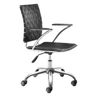 Criss Cross Office Chair Black -205030-1