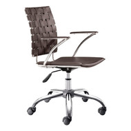Criss Cross Office Chair Espresso -205032-1
