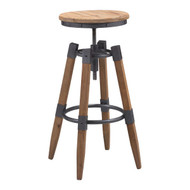 Curry Barstool Natural Pine & Industrial Gray -100417-1