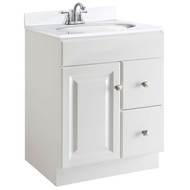 24-inch Modern Bathroom Vanity Cabinet Base in White Semi-Gloss DHW2564