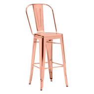 Elio Bar Chair Rose Gold (Set Of 2) -108063-1