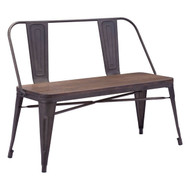 Elio Double Bench Rustic Wood -108149-1