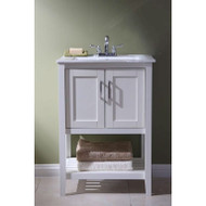 23-inch Bathroom Vanity Set with White Porcelain Top LFBV27951