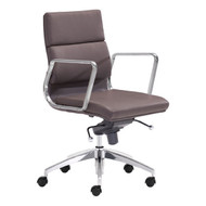Engineer Low Back Office Chair Espresso -205897-1