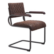 Father Dining Arm Chair Vintage Brown (Set Of 2) -100404-1