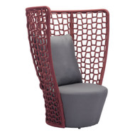 Faye Bay Beach Chair Cranberry & Gray -703579-1