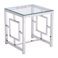 Geranium Side Table Stainless Steel -100185-1