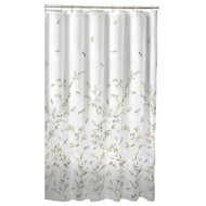 Floral Dragonfly Polyester Machine Washable Shower Curtain DFG58198151