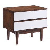 La Night Stand Walnut & White -800334-1