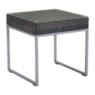 Malibu Side Table Brown & Silver -703837-1