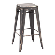 Marius Barstool Antique Black Gold (Set Of 2) -106108-1