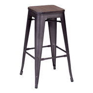 Marius Barstool Rustic Wood (Set Of 2) -106107-1