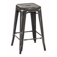 Marius Counter Stool Anti Black Gold (Set Of 2) -106112-1