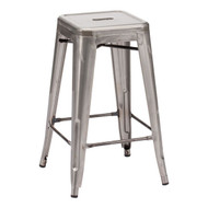 Marius Counter Stool Gunmetal (Set Of 2) -106114-1
