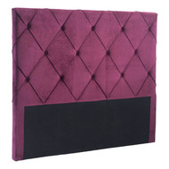 Matias Headboard Queen Wine Velvet -100228-1