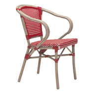 Paris Dining Arm Chair Red&White (Set Of 2) -703800-1