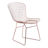 Wire Dining Chair Rose Gold (Set Of 2) -100361-1