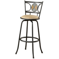 Set of 2 - Adjustable Height Contemporary Swivel Barstool PSH725284