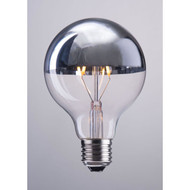 E26 Bulb, G80, 2W, LED, 110X80mm, Half Chrome -P50032