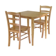 3 Piece Wood Dining Set in Light Oak Finish WG3PWDS197