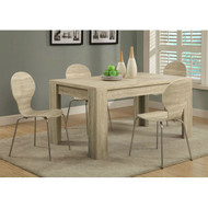 Contemporary 59 x 35.5-inch Dining Table in Natural Wood Finish WNT519685151