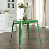 Contemporary French Cafe Style Sturdy Metal Dining Table in Green GMD156984152