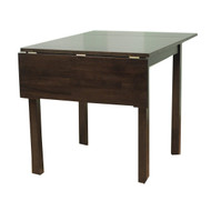 Contemporary Sold Wood Drop Leaf Dining Table in Espresso TMSADT13949