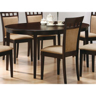 Contemporary Oval Dining Table in Dark Brown Cappuccino Wood Finish CODTC235