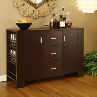 Modern Dining Buffet Sideboard Server in Cappuccino Finish HDCB25843