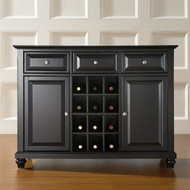 Contemporary Dining Room Sideboard Buffet Cabinet in Black CSB28941
