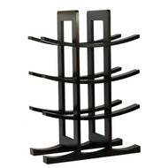 12-Bottle Wine Rack in Dark Espresso Finish Bamboo BIRHE2153-4